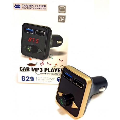 FM модулятор+Bluetooth+2USB+SD card G29