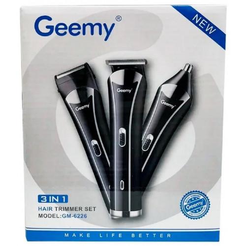 машинка для стрижки волос+бритва+триммер 3в1 Gemei GM-6226