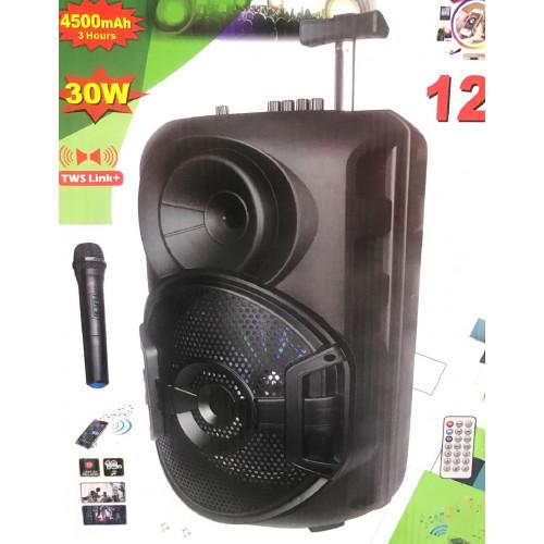 бумбокс+Bluetooth+USB+SD+радио+аккумулятор+микрофон+эквалайзер+светомузыка ZQS-12106