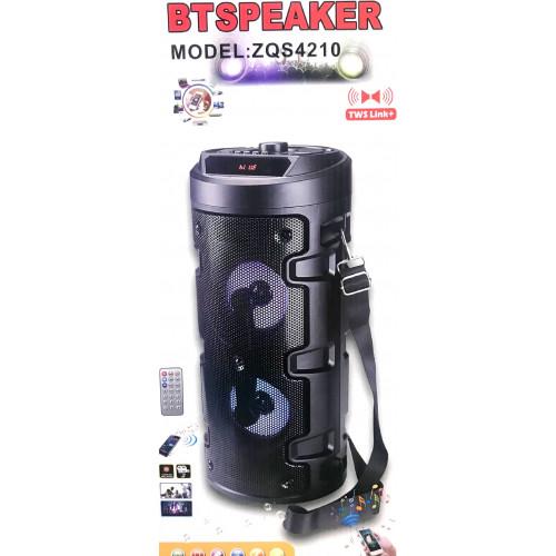 бумбокс+Bluetooth+USB+SD+радио+аккумулятор+эквалайзер+светомузыка ZQS-4210