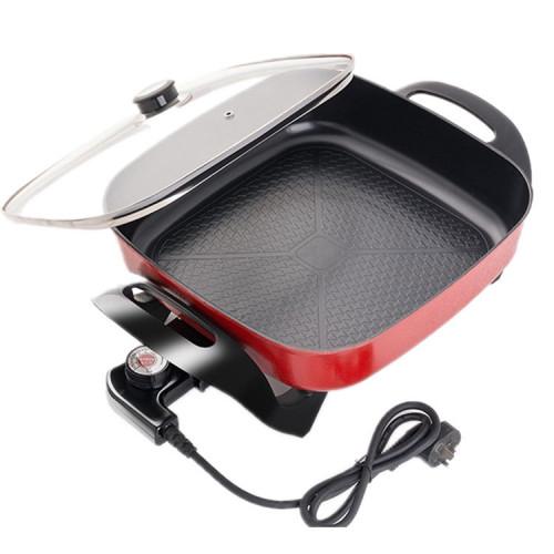 электрический гриль сковородка с регулятором температуры, мощность1500w, LX-G30