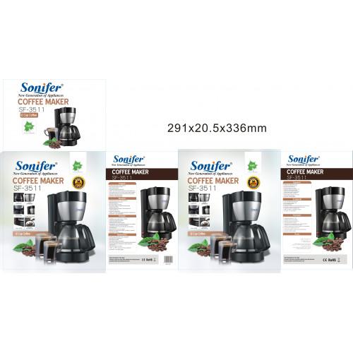 кофеварка электрическая Sonifer, емкость 1.25л, мощноть 800w SF-3511