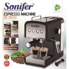 кофеварка электрическая Sonifer (каппучино и эспрессо), емкость 1.2л, мощноть 850w SF-3529