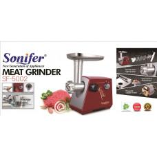 мясорубка Sonifer с обратным реверсом, 3 носадки, мощность 1200w SF-5002