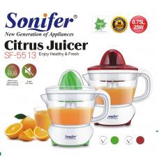 соковыжималка для цитрусовых электрическая Sonifer, объем 0.75л, SF-5513