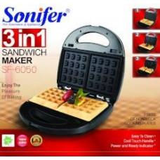 сендвичница-вафельница 3в1 Sonifer, мощность 800w SF-6050