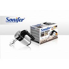 ручной миксер Sonifer, с 3-я насадками, 5 режима скорости, мощность 500w SF-7017