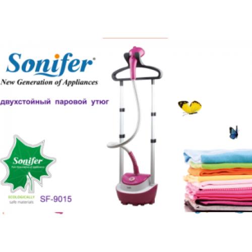 утюг паровой двухстойный для одежды (отпариватель) Sonifer, с насадками, мощность 3000w SF-9015
