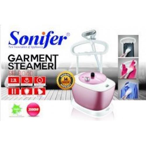 утюг паровой для одежды (отпариватель) Sonifer, с насадками, 2 режима пара, емкость для воды 2.2л, мощность 2000w SF-9040