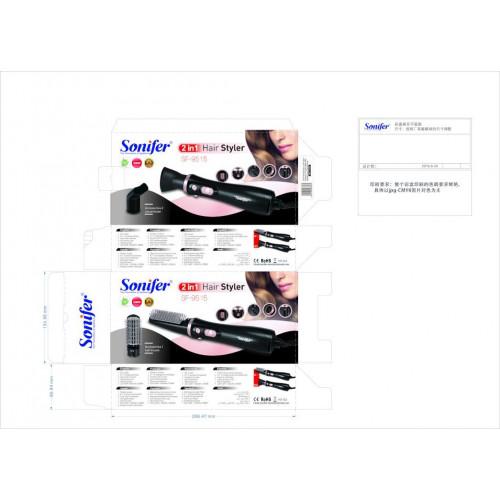 фен-расческа для укладкт волос Sonifer 2в1, 1000w SF-9515