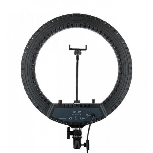 "Кольцевая лампа LED Ring Light HQ-18"", 45 см, гор/холод"