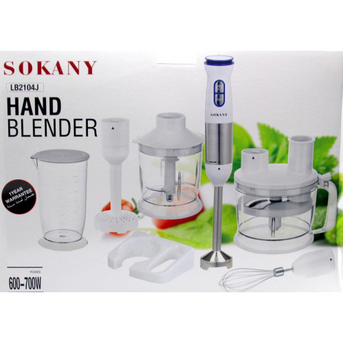 многофункциональный кухонный комбайн SOKANY, с насадками, мощность 700w LB-2104J