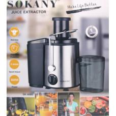соковыжималка для твердых фруктов и овощей SOKANY, мощность 800w SK-4000