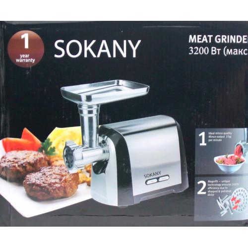 мясорубка электрическая SOKANY с обратным реверсом, мощность 3200w SK-088