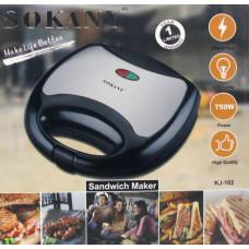 сендвичница-бутербродница SOKANY, мощность 750w KJ-102