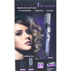фен-расческа SOKANY для укладки волос с 2-я носадками, мощность 1000w HB-841-2