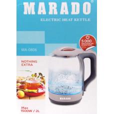 электрочайник Marado, объем 2.0л, мощность 1500w MA-0806