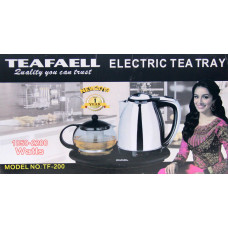 электрочайник TEAFAELL 2в1, c заварным чайником и с подставкой для подогрева, емкость 2.2л и 1л,  мощность 2200w TF-201