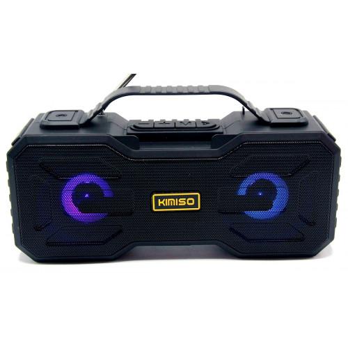 колонка KIMISO KM-301+Bluetooth+USB+радио+светомузыка+аккумулятор+Power Bank (1 сорт)