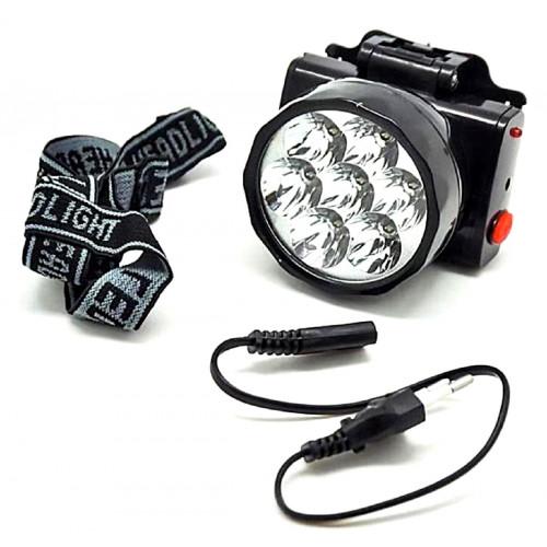 фонарик налобный+аккумулятор+зарядка от сети YYC-588-9C