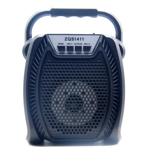 бумбокс+Bluetooth+USB+SD+радио+аккумулятор 18650+светомузыка ZQS-1411