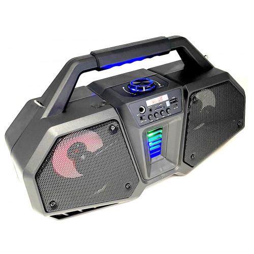 бумбокс+Bluetooth+USB+SD+радио+аккумулятор 18650+светомузыка ZQS-4216