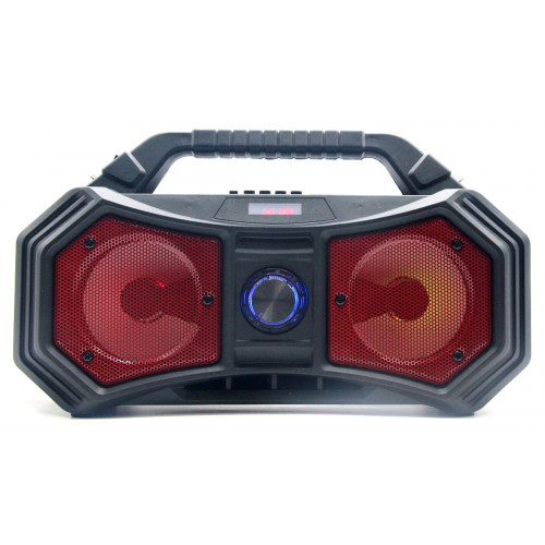 бумбокс+Bluetooth+USB+SD+радио+фонарик+аккумулятор 18650+светомузыка ZQS-4222