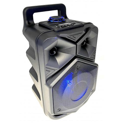 бумбокс+Bluetooth+USB+SD+радио+аккумулятор+микрофон+светомузыка ZQS-6120