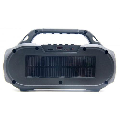 бумбокс+Bluetooth+USB+SD+радио+фонарик+аккумулятор+светомузыка+солнечная зарядка ZQS-T312