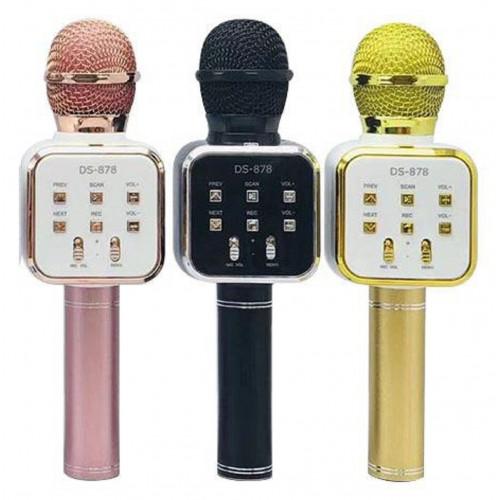 колонка микрофон+Bluetooth+USB+радио+аккумулятор DS-878