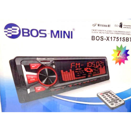 автомагнитола+Bluetooth+USB+AUX+Радио BOS-X1751SBT