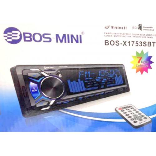 автомагнитола+Bluetooth+USB+AUX+Радио BOS-X1753SBT