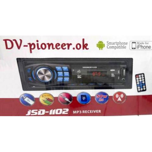 автомагнитола+Bluetooth+USB+AUX+Радио JSD-1102BT