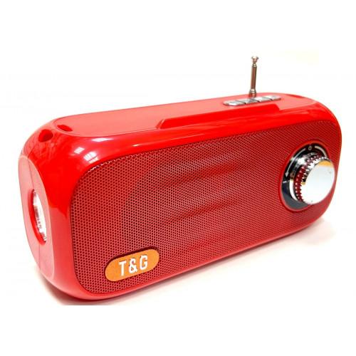 колонка TG-613+Bluetooth+USB+радио+фонарик+аккумулятор+солнечная зарядка