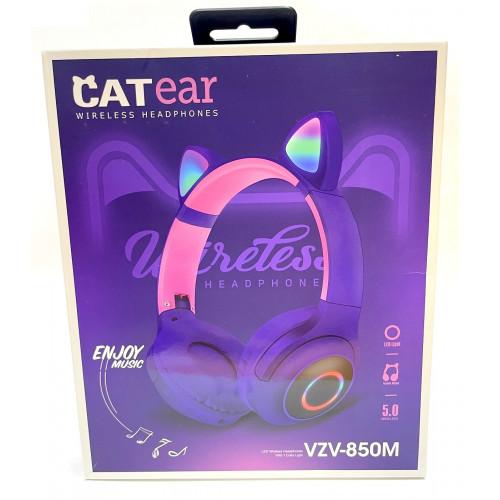 наушники беспроводные VZV-850M со светящимися кошачьими ушками
