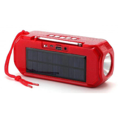 колонка TG-280+Bluetooth+USB+радио+4 динамика+фонарик+солнечная зарядка