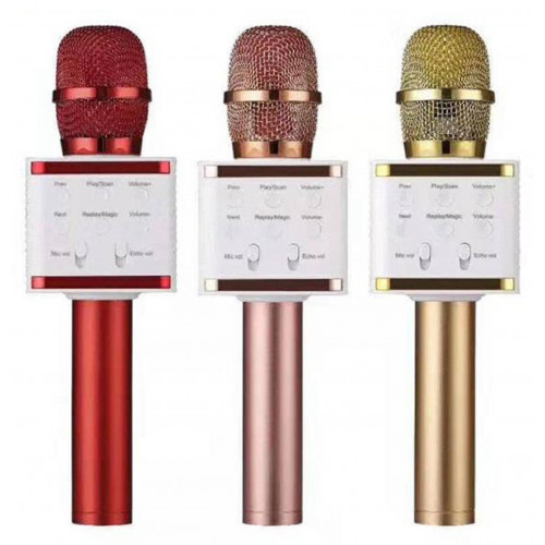 колонка микрофон+Bluetooth+USB+радио+аккумулятор V7