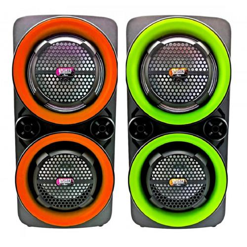 бумбокс+Bluetooth+USB+SD+радио+аккумулятор+микрофон+эквалайзер+светомузыка DG-1016
