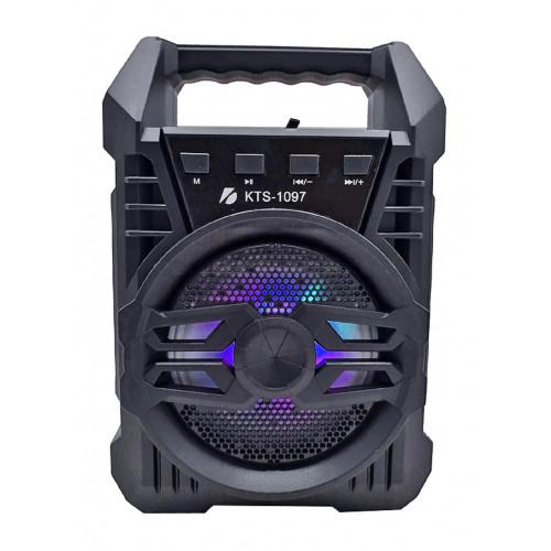 бумбокс+Bluetooth+USB+SD+радио+аккумулятор+светомузыка KTS-1097