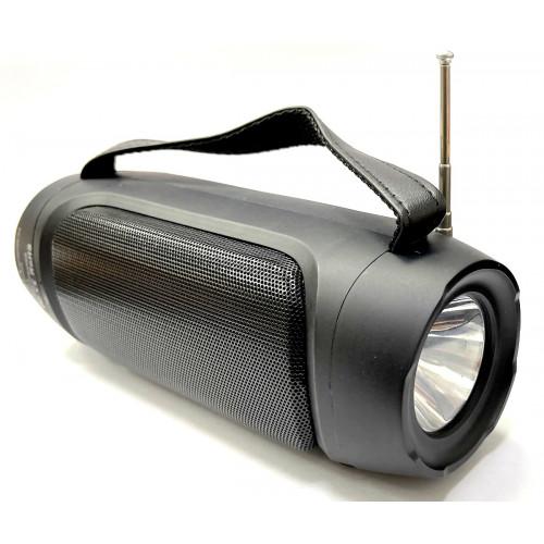 колонка HAIRUN+Bluetooth+USB+SD+радио+фонарик+аккумулятор+солнечная зарядка HR-S8