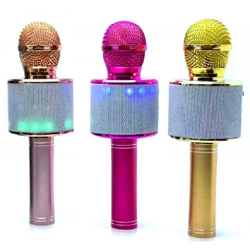 колонка микрофон+светомузыка+Bluetooth+USB+радио+аккумулятор WSTER WS-868L