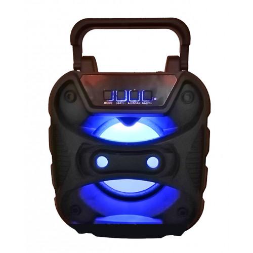 бумбокс+Bluetooth+USB+SD+радио+аккумулятор+светомузыка ZQS-1415