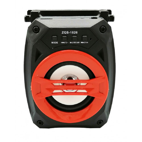 бумбокс+Bluetooth+USB+SD+радио+аккумулятор+светомузыка ZQS-1826B