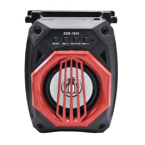 бумбокс+Bluetooth+USB+SD+радио+аккумулятор+светомузыка ZQS-1826C