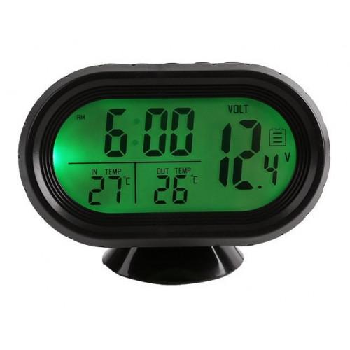 часы автомобильные+вольтметр VST-7009V
