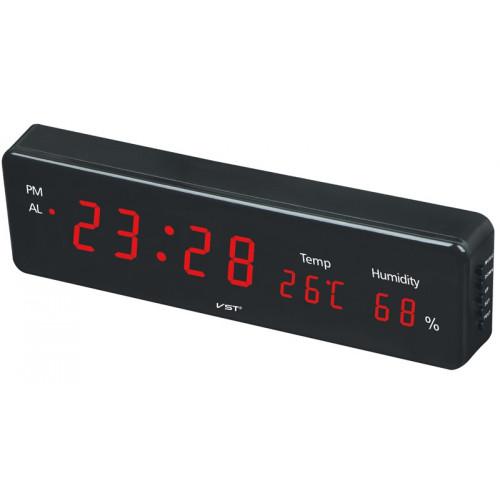 часы настольные+дата+температура VST-805S/1 (красный) 1 сорт