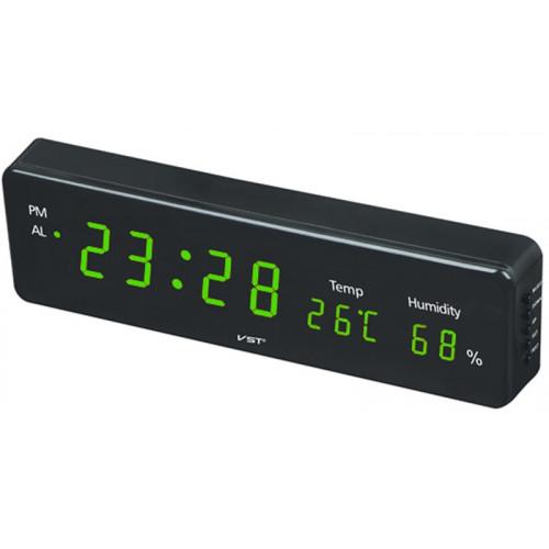 часы настольные+дата+температура VST-805S/4 (ярко-зеленый) 1 сорт