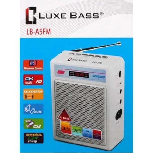 радиоприемник Luxe Bass+USB+SD+аккумулятор LB-A5