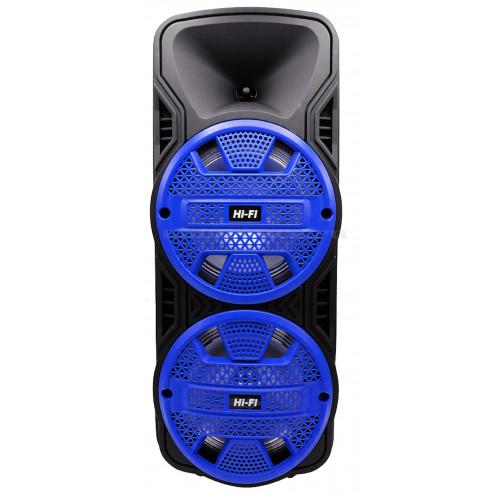 бумбокс+Bluetooth+USB+SD+радио+аккумулятор+микрофон+пульт+светомузыка ZQS-8205