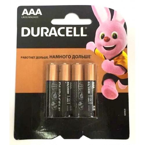 батарейки DURACELL AAA R03 BL4